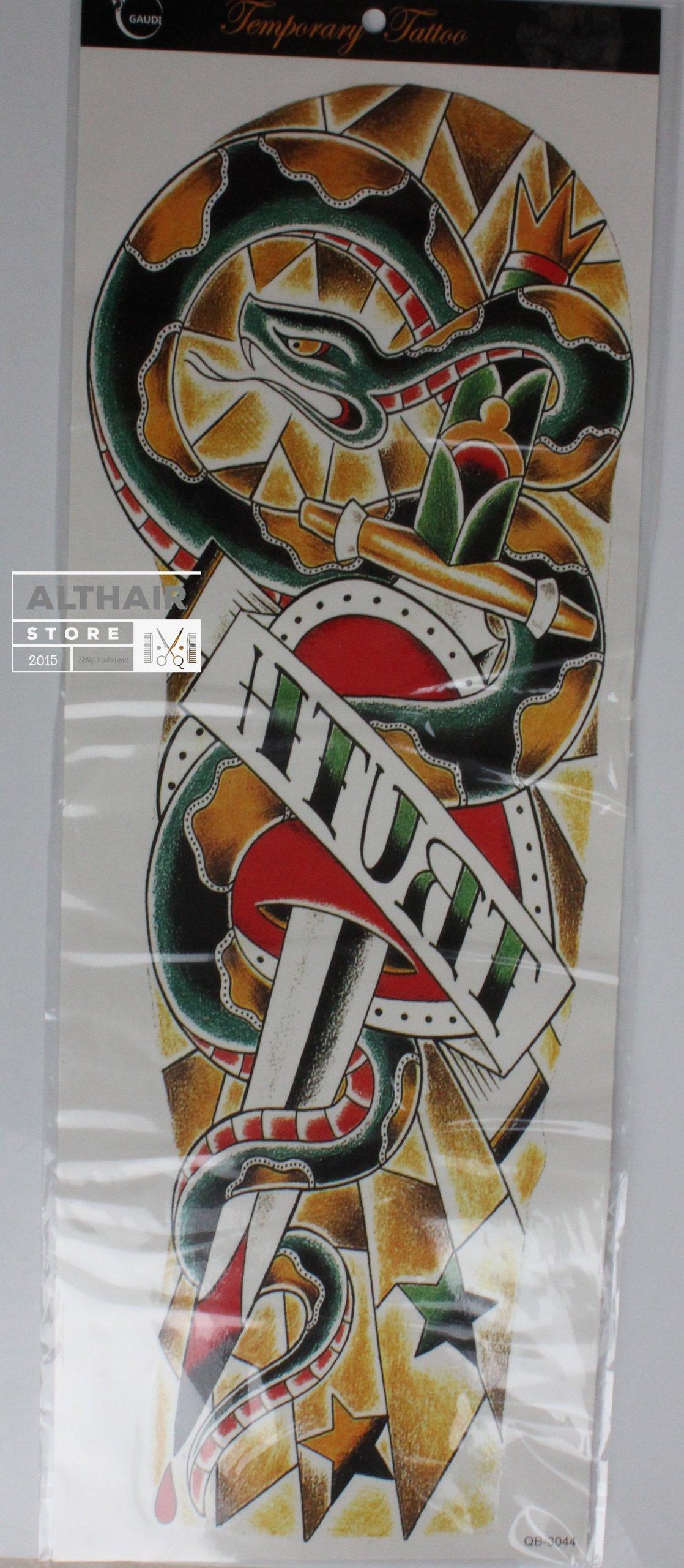 Tatuaże Tymczasowe Tattoo 3d Super Rękaw 45x20
